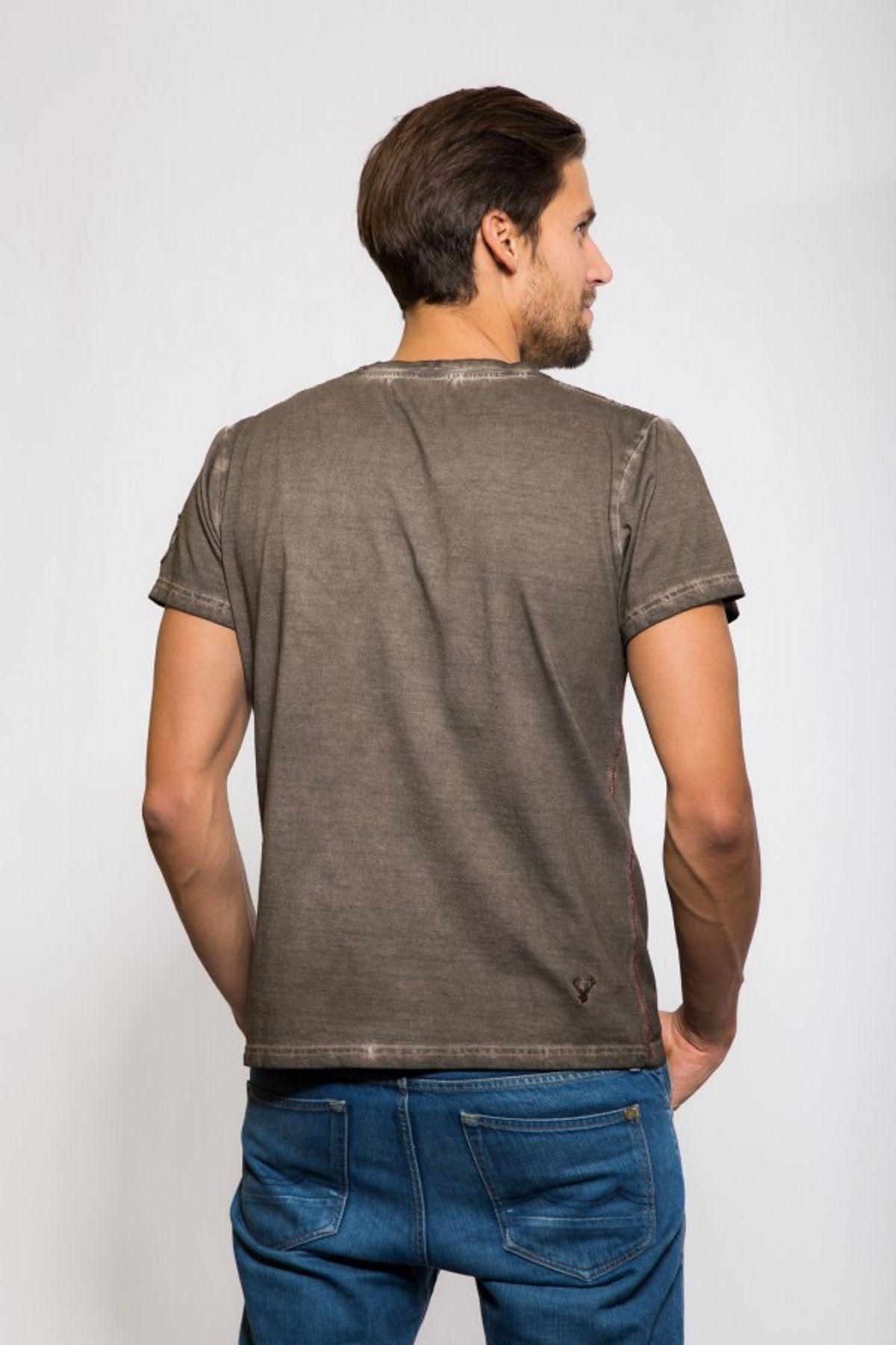 Krüger - Herren Trachten T-Shirt in braun, Pack Ma´s Buam (93202-7) – Bild 7