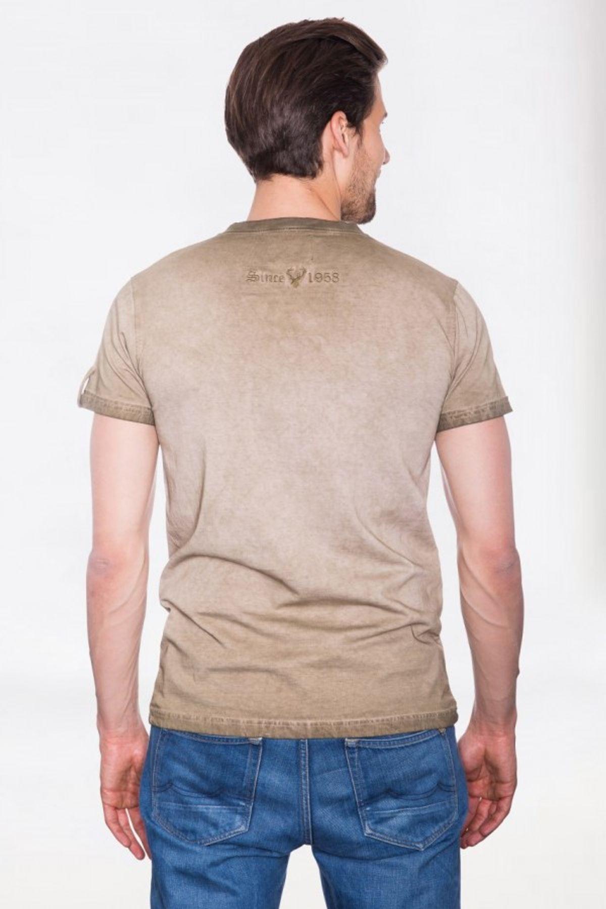 Krüger - Herren Trachten T-Shirt in braun, Seppelhose (91280-7) – Bild 7