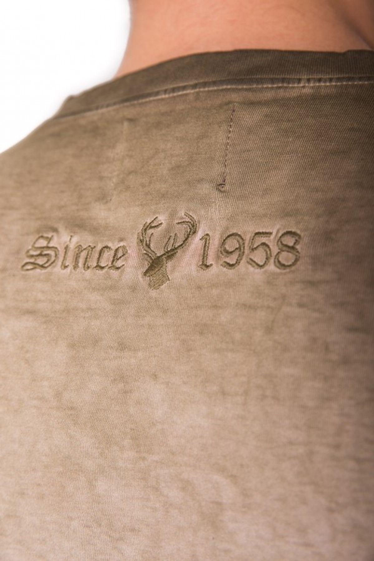Krüger - Herren Trachten T-Shirt in braun, Seppelhose (91280-7) – Bild 6