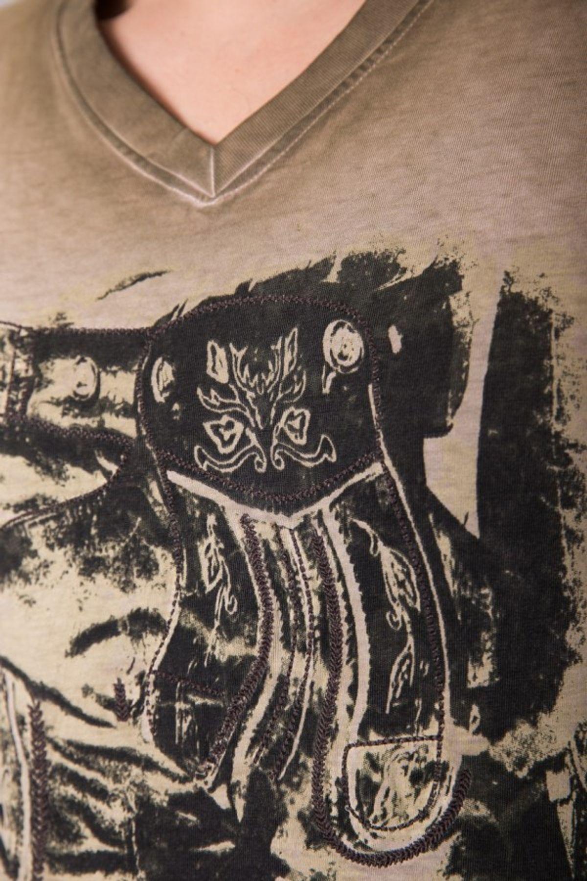 Krüger - Herren Trachten T-Shirt in braun, Seppelhose (91280-7) – Bild 4