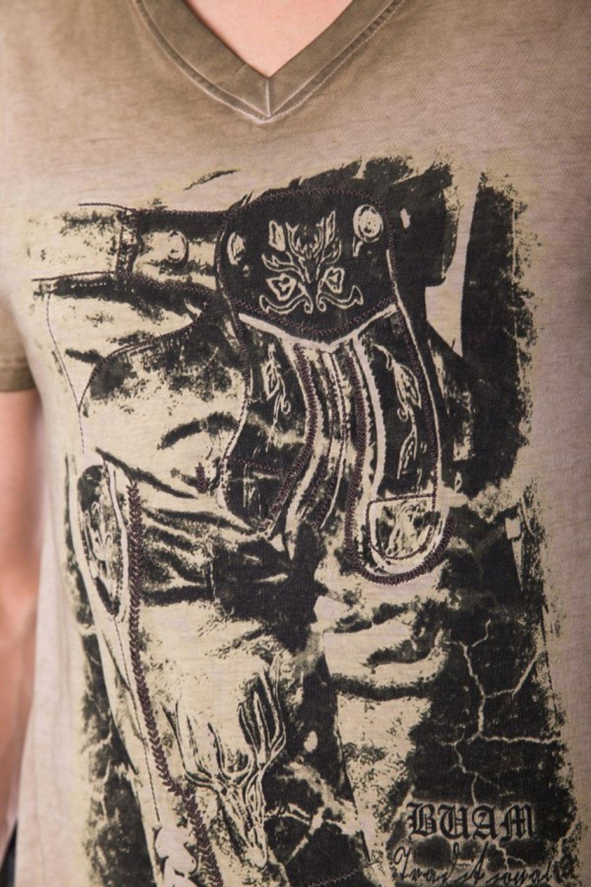 Krüger - Herren Trachten T-Shirt in braun, Seppelhose (91280-7) – Bild 5