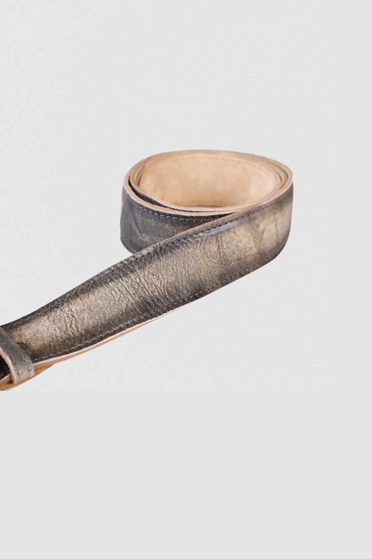 Krüger - Herren Trachtengürtel in Braun, Zwölfender Gold (9930-778) – Bild 3