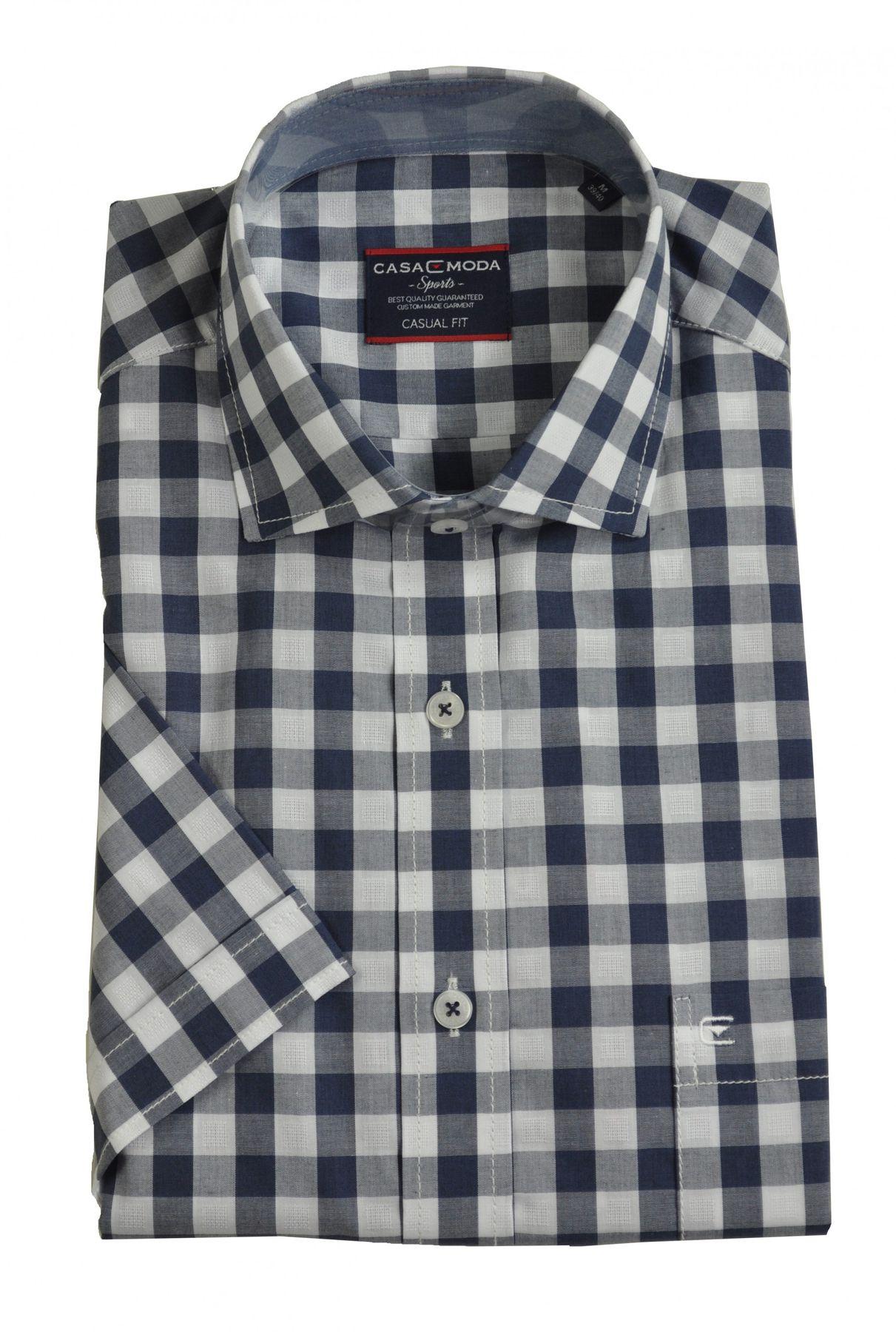Casa Moda - Casual Fit - Herren Freizeit 1/2-Arm-Hemd in verschiedenen Farben mit Kent-Kragen (983074600) – Bild 5