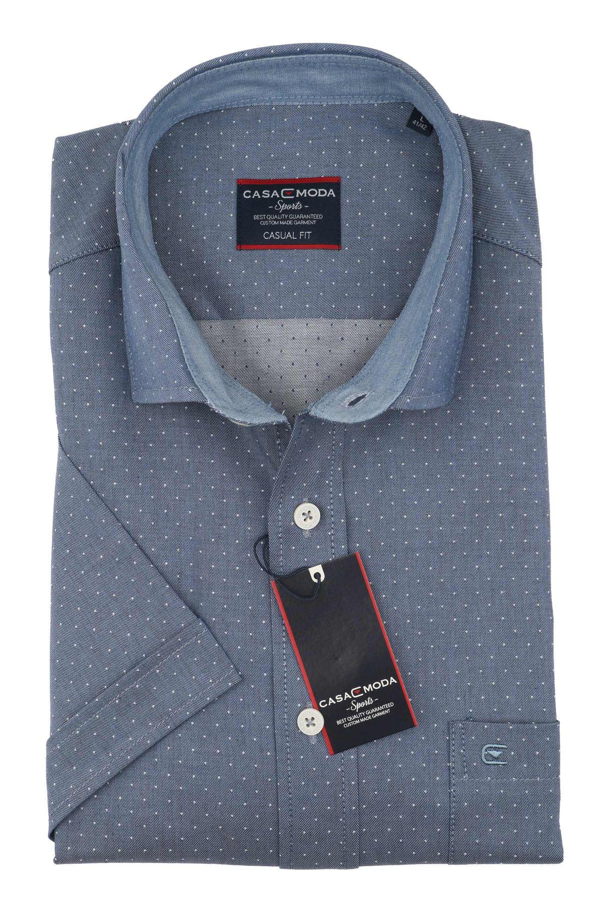 Casa Moda - Casual Fit - Herren Freizeit 1/2-Arm-Hemd in verschiedenen Farben mit Kent-Kragen (983074600) – Bild 8