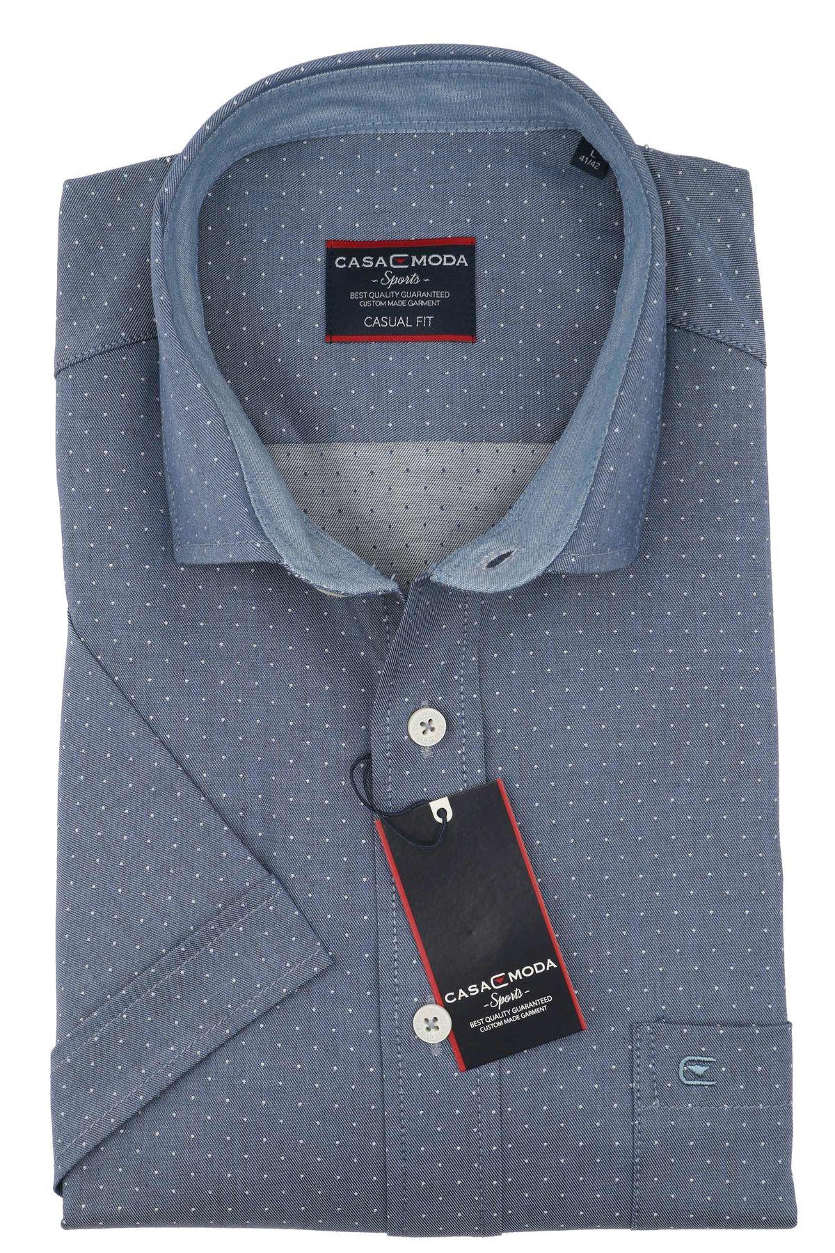 Casa Moda - Casual Fit - Herren Freizeit 1/2-Arm-Hemd in verschiedenen Farben mit Kent-Kragen (983074600) – Bild 11