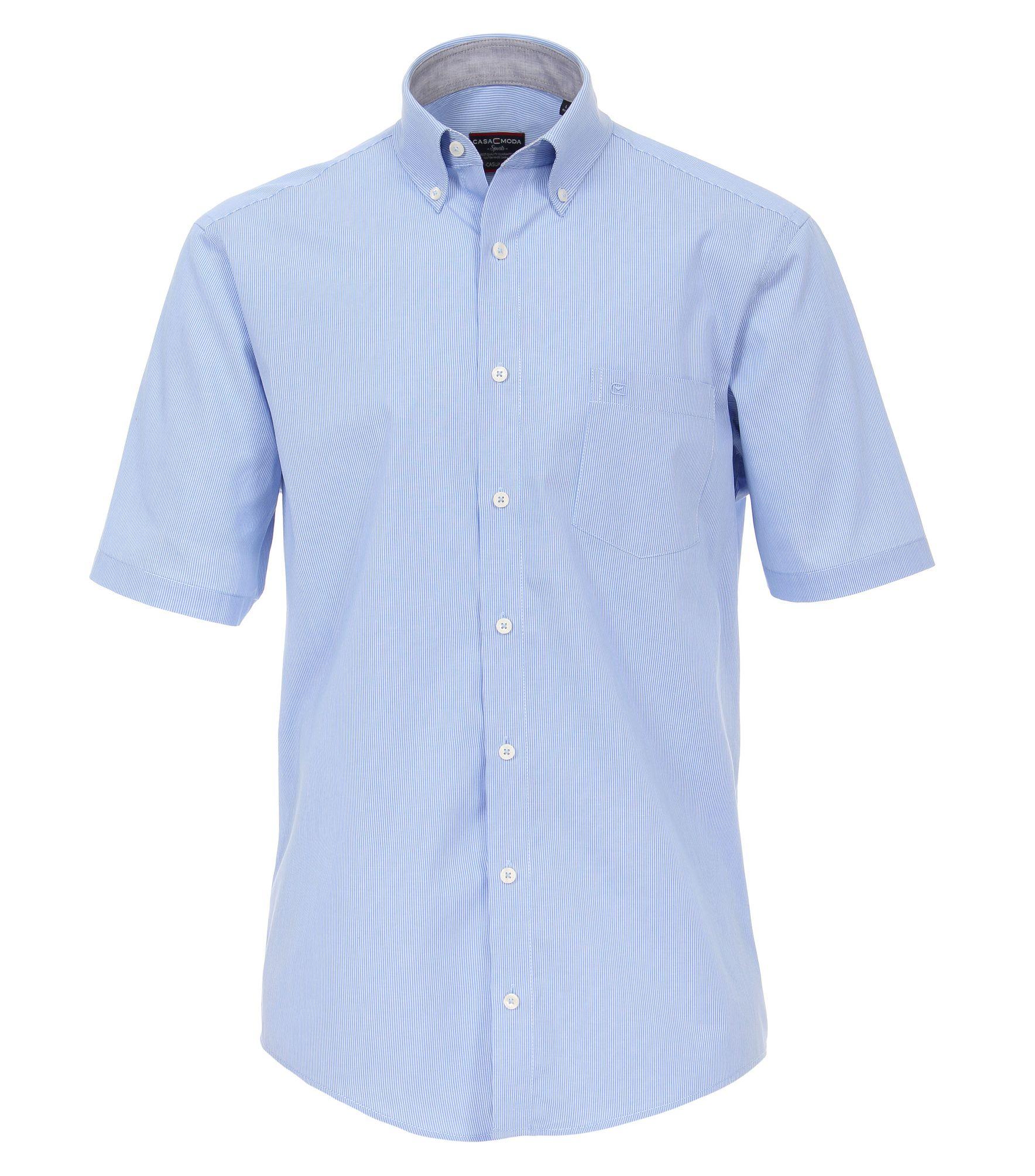 557c390a76 Casa Moda - Casual Fit - Herren Freizeit 1/2-Arm-Hemd in verschiedenen  Farben mit Button - Down - Kragen (983078800A)