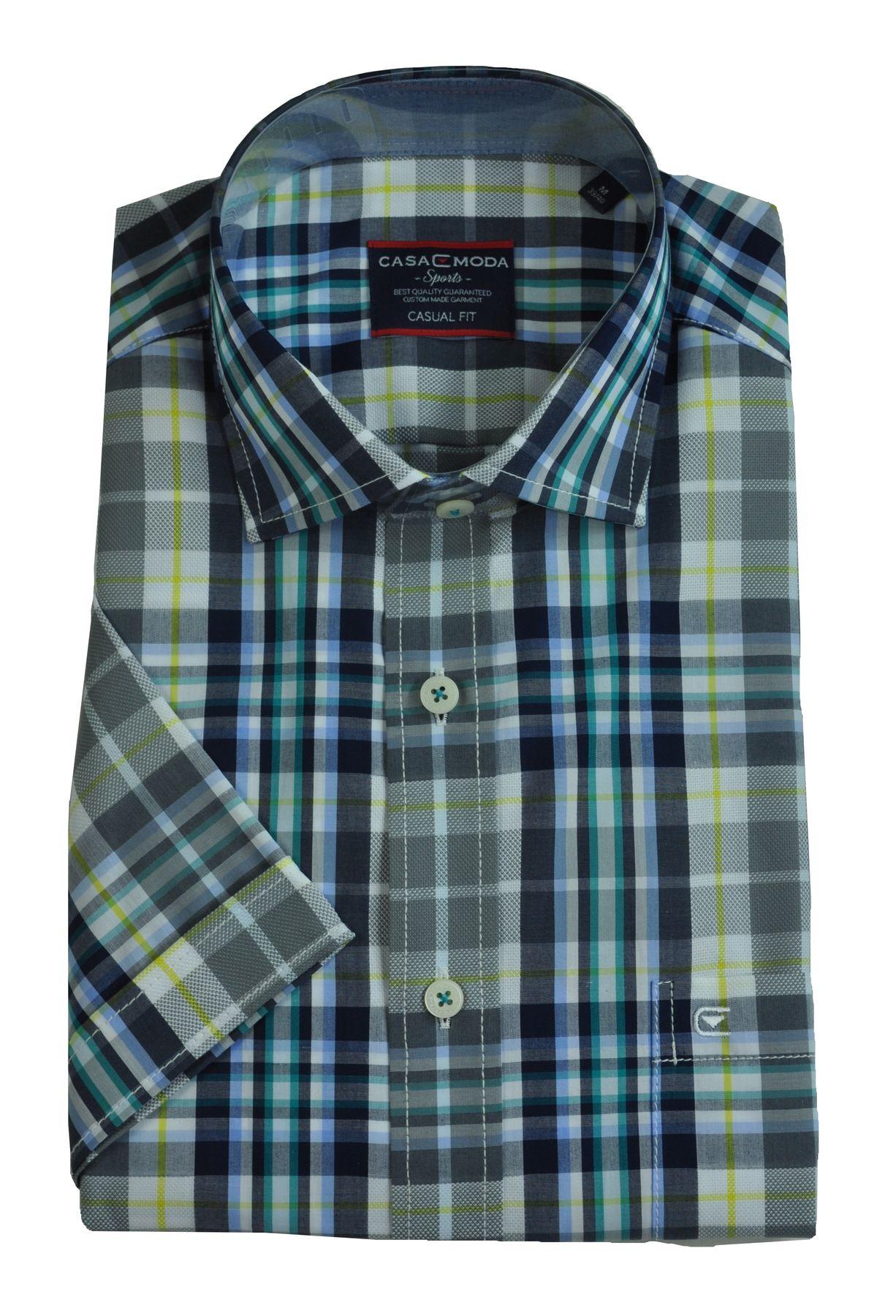 Casa Moda - Casual Fit - Herren Freizeit 1/2-Arm-Hemd in verschiedenen Farben mit Kent-Kragen (983074600) – Bild 3