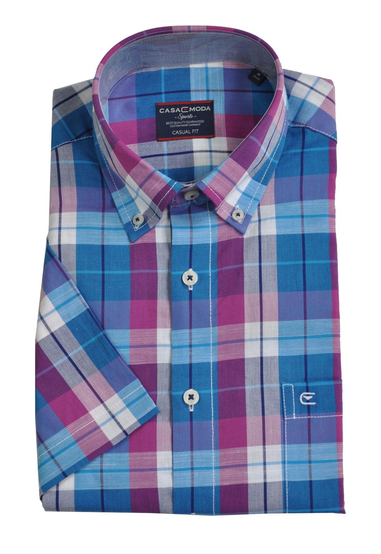 Casa Moda - Casual Fit - Herren Freizeit 1/2-Arm-Hemd in verschiedenen Farben mit Button-Down-Kragen (983079000) – Bild 3