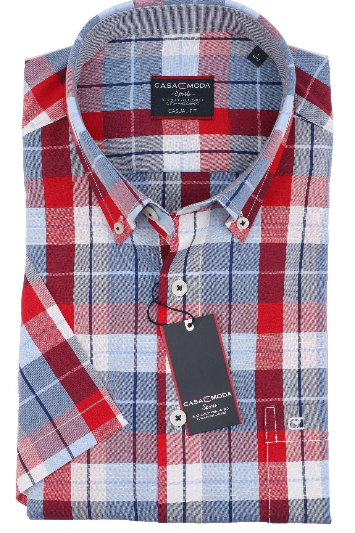 Casa Moda - Casual Fit - Herren Freizeit 1/2-Arm-Hemd in verschiedenen Farben mit Button-Down-Kragen (983079000) – Bild 4