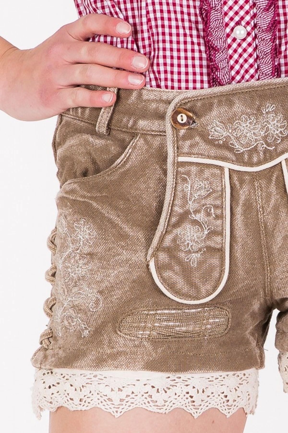 Krüger - Damen Trachtenhose in braun, Textilhose Beauty (33305-715) – Bild 4
