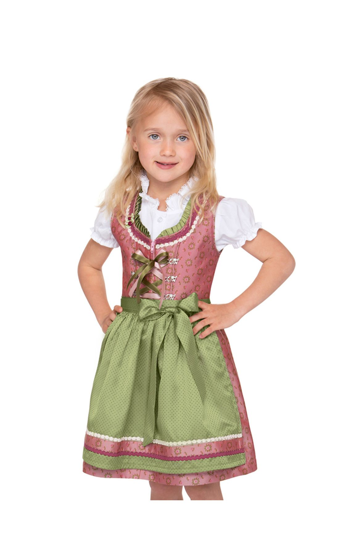 Stockerpoint - Kinder Trachten Dirndl Suki in Rose, Gr. 122-152 – Bild 1