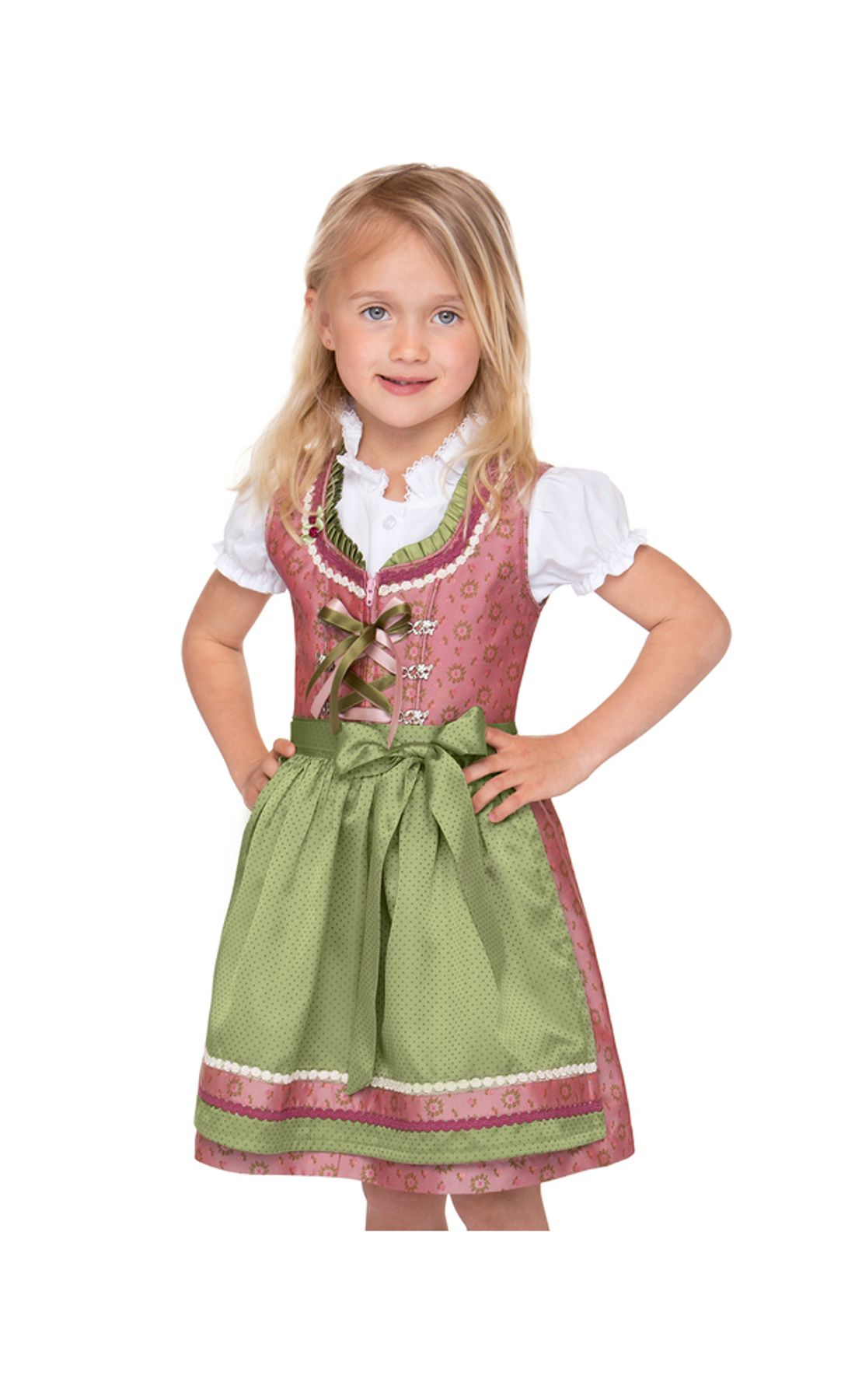 Stockerpoint - Kinder Trachten Dirndl Suki in Rose, Gr. 86-116 – Bild 1