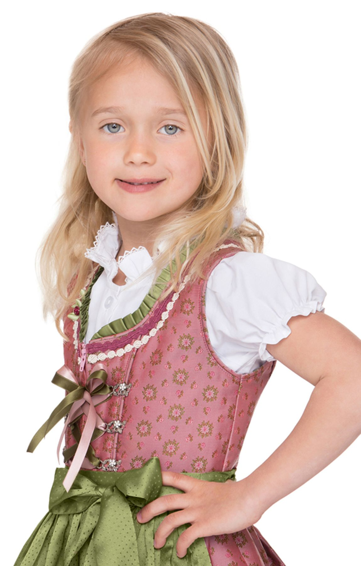 Stockerpoint - Kinder Trachten Dirndl Suki in Rose, Gr. 86-116 – Bild 3