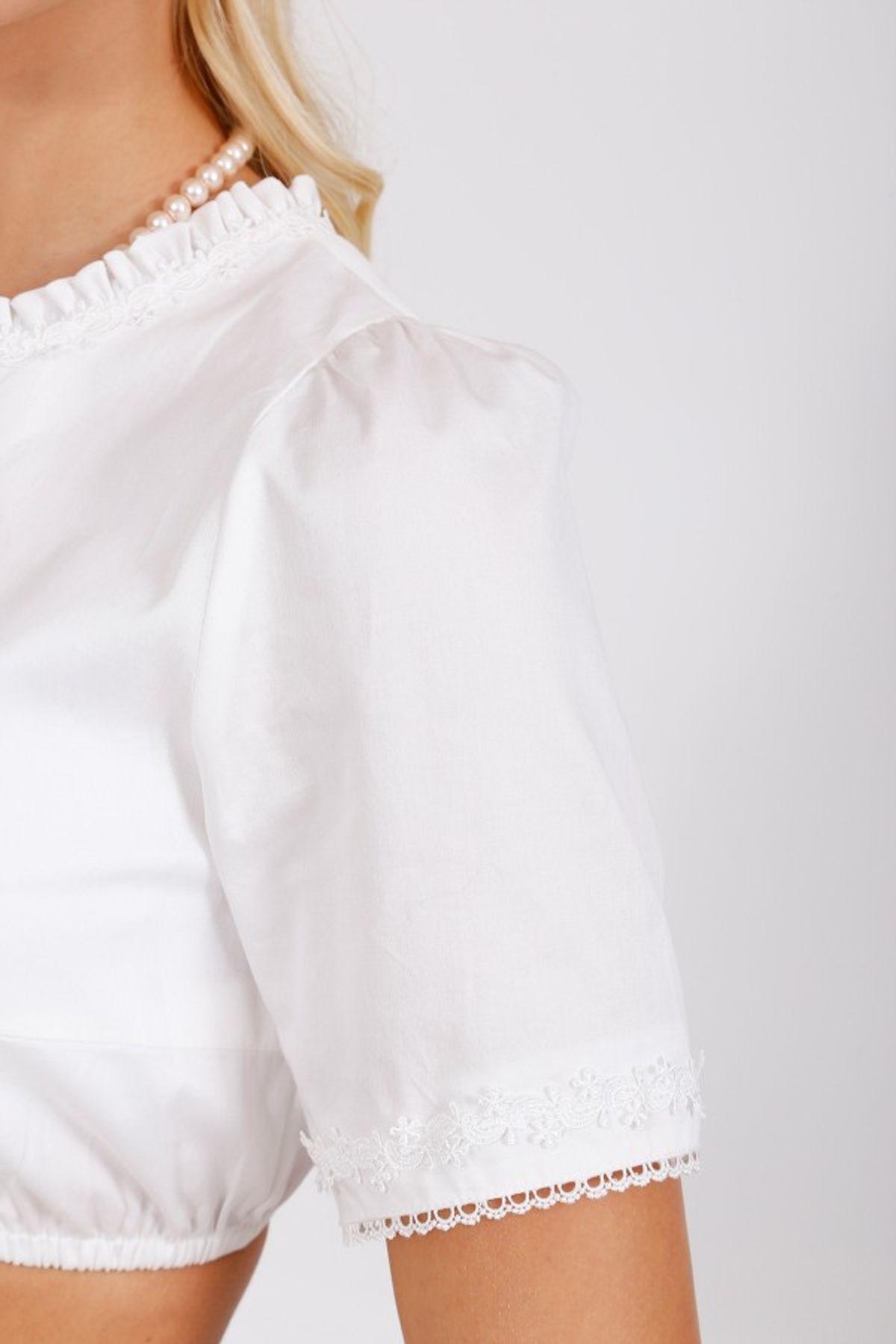 Krüger - Damen Dirndlbluse in weiß, Charlotte (25103-1) – Bild 4