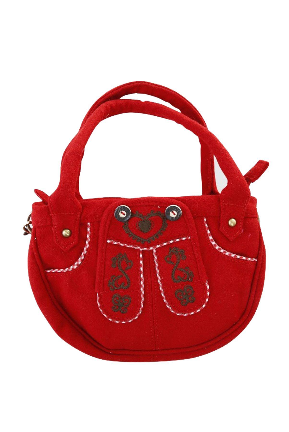 Krüger - Damen Trachtentasche in rot, Herzenssache (4722-9) – Bild 1