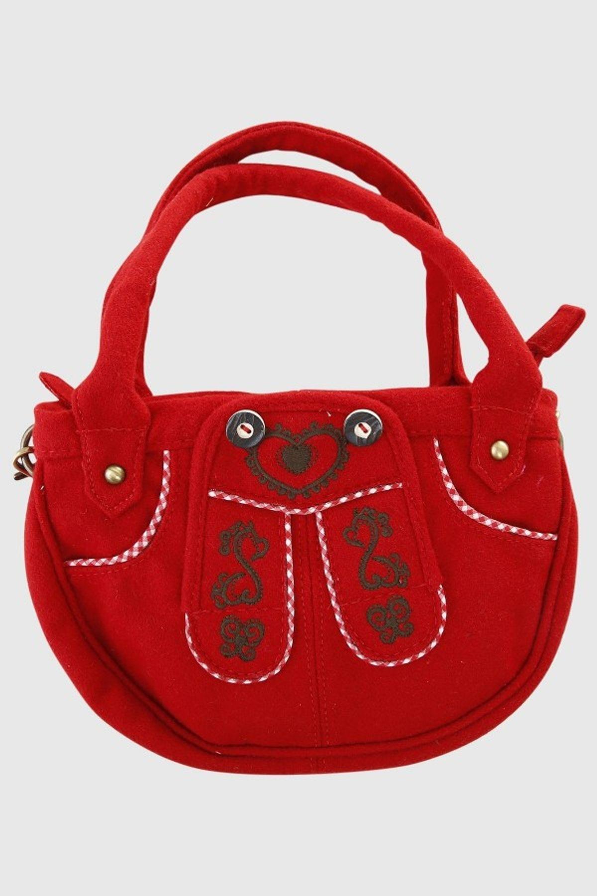 Krüger - Damen Trachtentasche in rot, Herzenssache (4722-9) – Bild 2