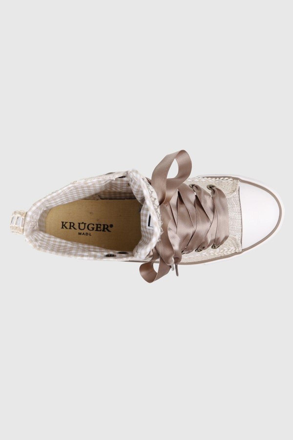 Krüger - Damen Trachtenschuh in natur, Sneaker Countrylove (4433-15) – Bild 4