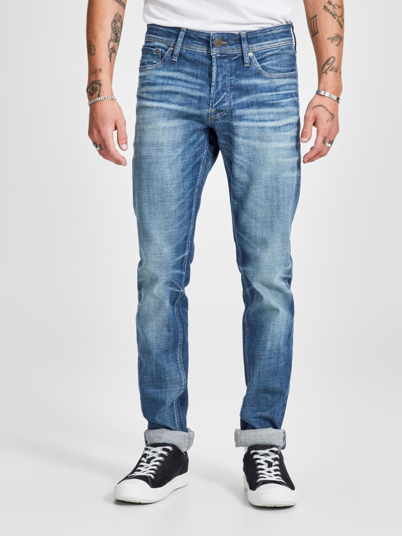 Jack & Jones - Herren Jeans, Slim Fit (Art. 12140285) – Bild 3