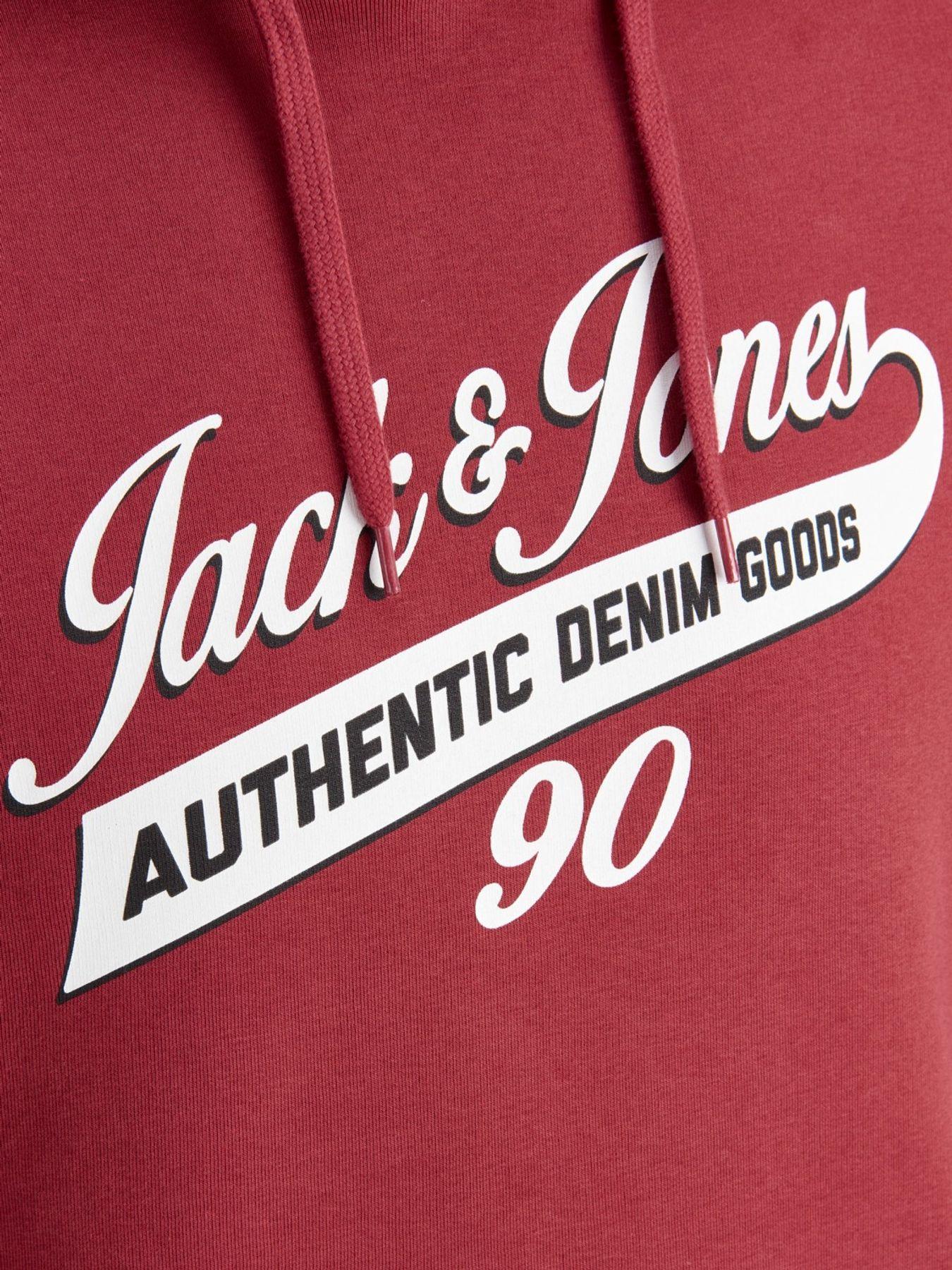 Jack & Jones - Herren Kapuzenpullover,  JJELOGO SWEAT HOOD TWO COLOR (12137102) – Bild 6