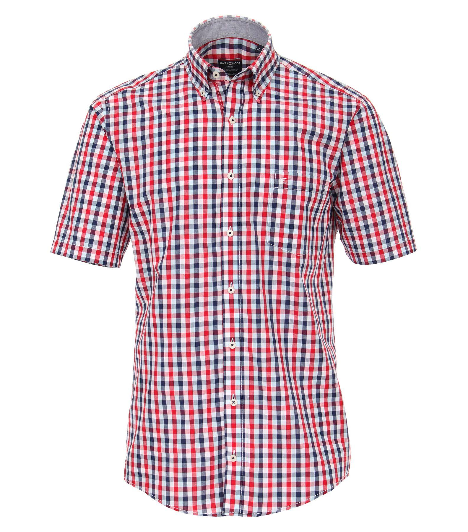 Casa Moda - Casual Fit - Herren Freizeit 1/2-Arm-Hemd in verschiedenen Farben mit Button-Down-Kragen, in Großen Größen (983078900) – Bild 3