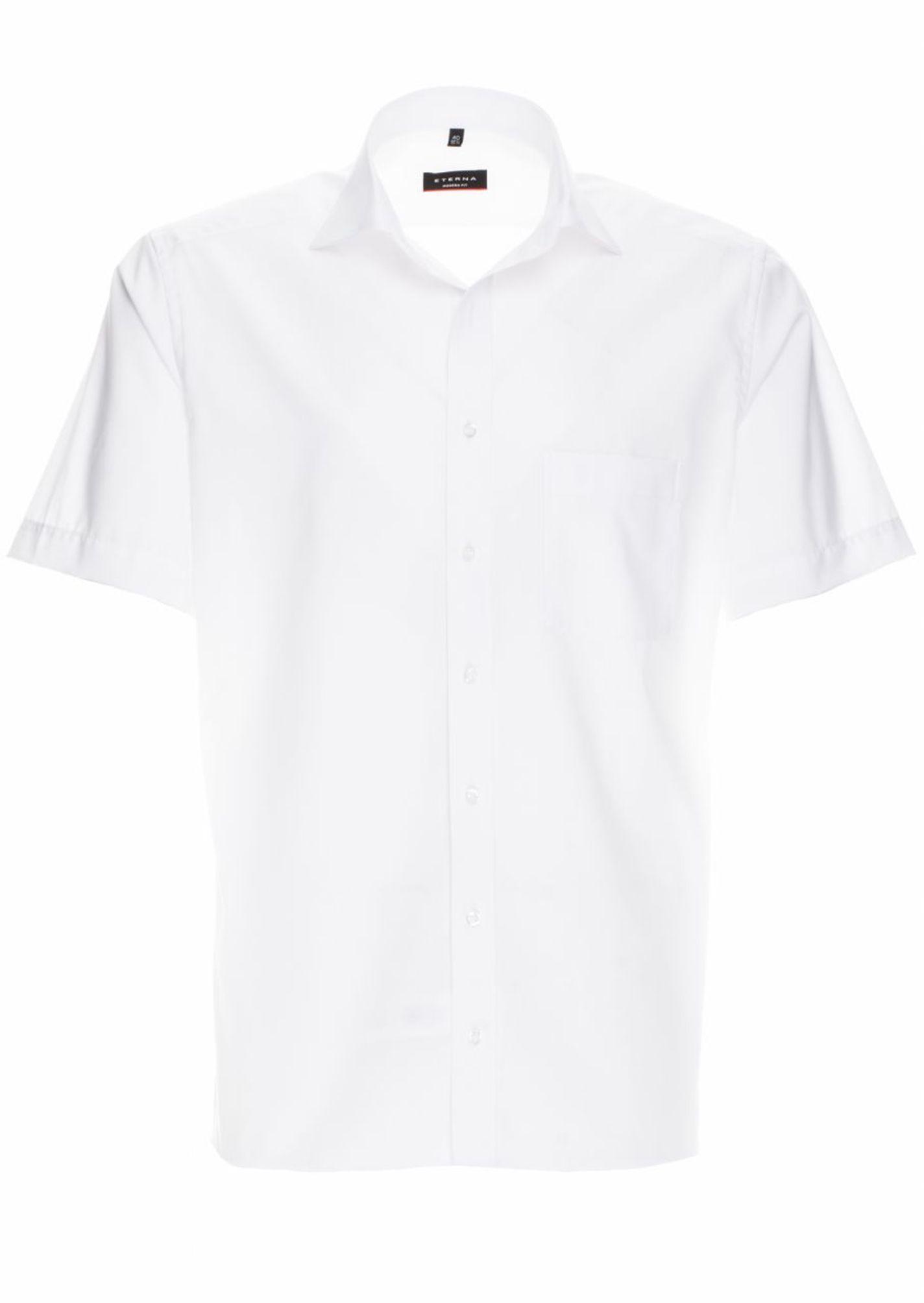 size 40 ea9f3 2e355 Eterna - Modern Fit - Bügelfreies Herren Kurzarm Hemd mit Kent-Kragen in  verschiedenen Farben, Uni Popeline (1100 C187)