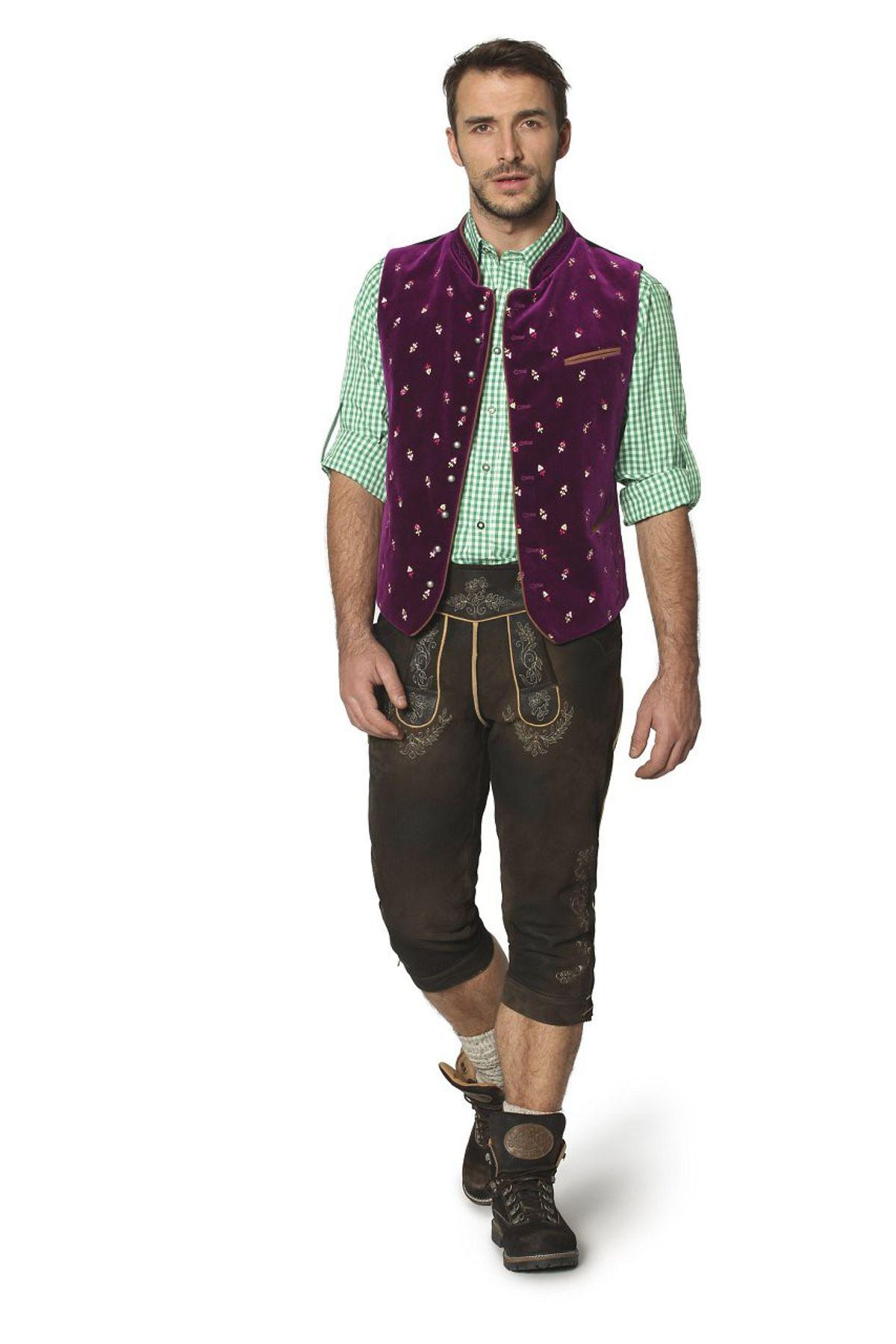 Stockerpoint - Herren Trachten Weste in verschiedenen Farbtönen, Calzado – Bild 21