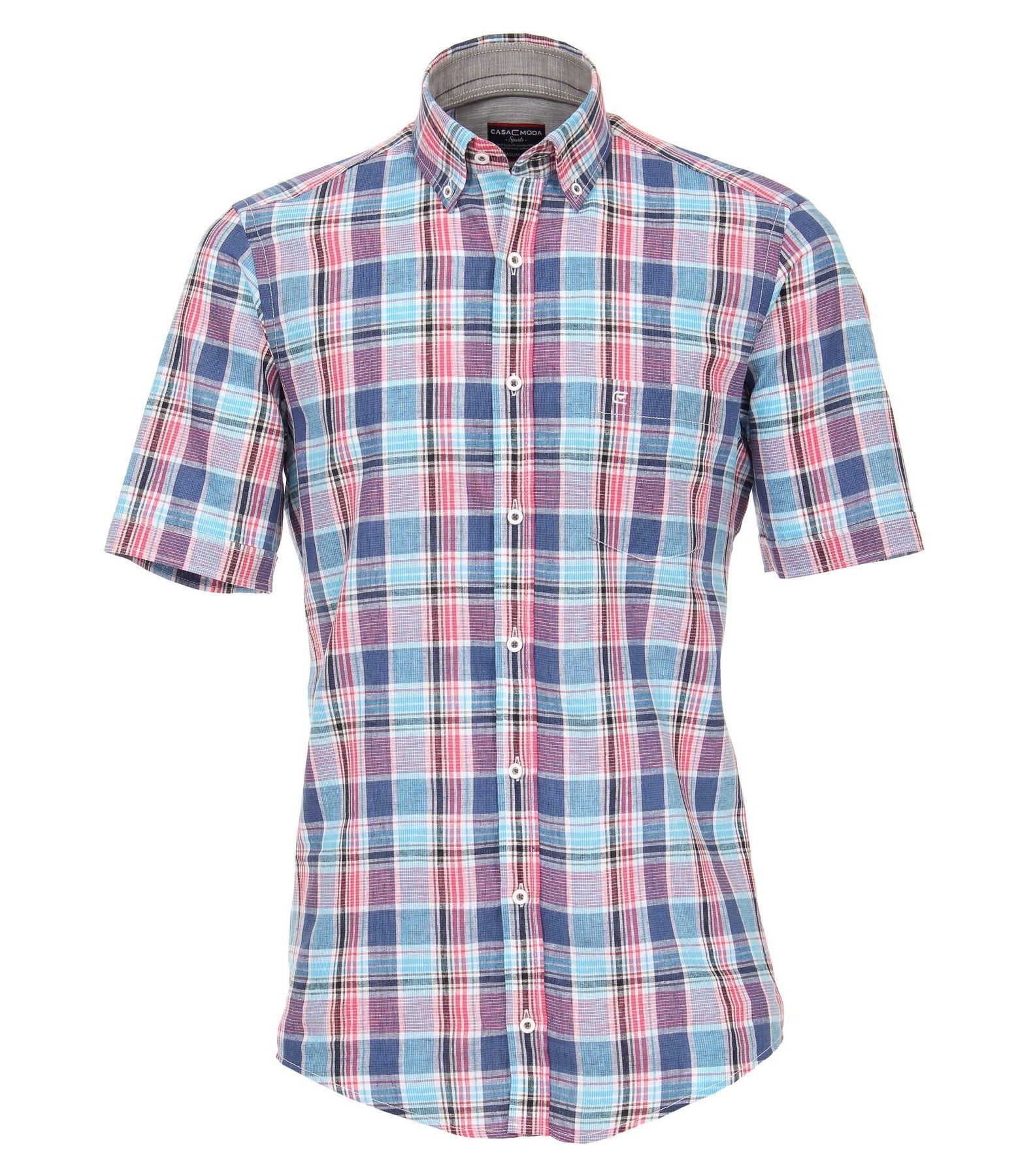 Casa Moda - Casual Fit - Herren Halbarm Hemd  mit Button Down-Kragen (982908400A) – Bild 1
