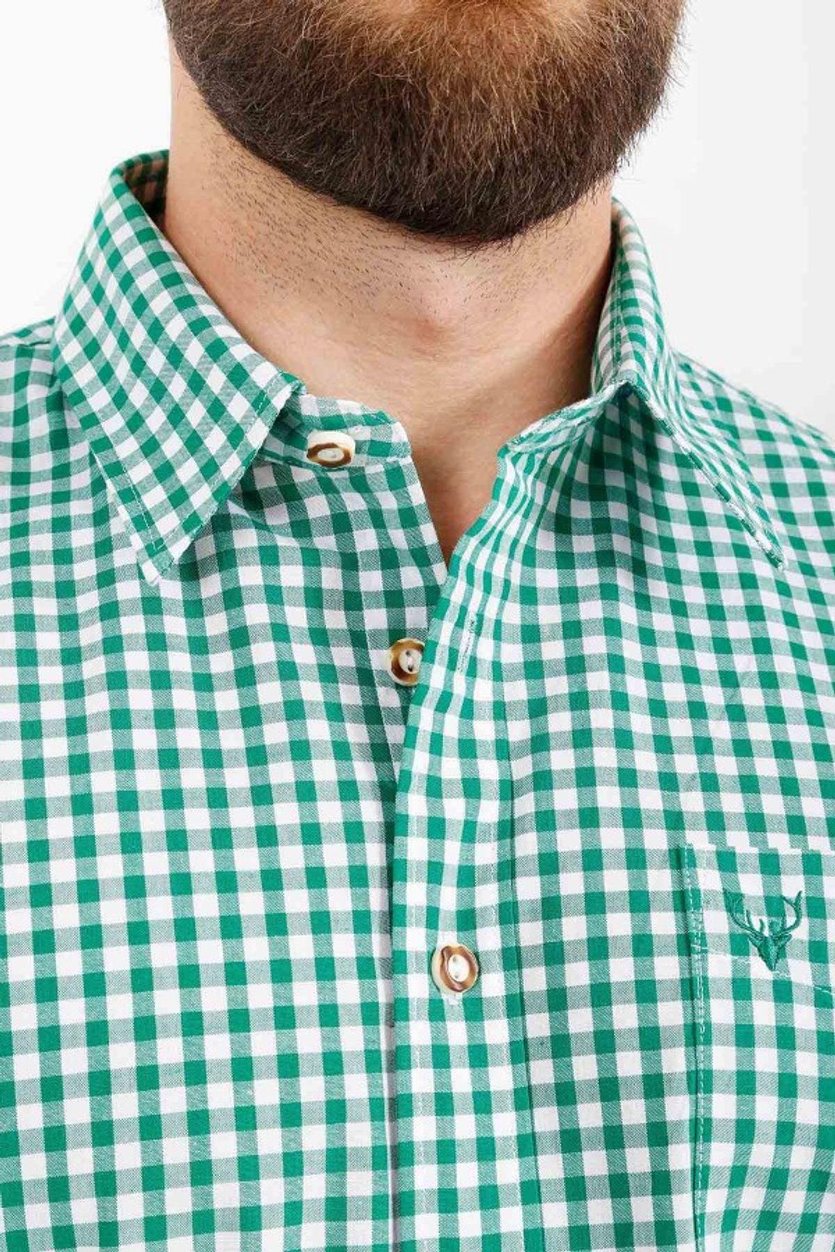 Krüger - Herren Trachtenhemd in grün (951-105) – Bild 4