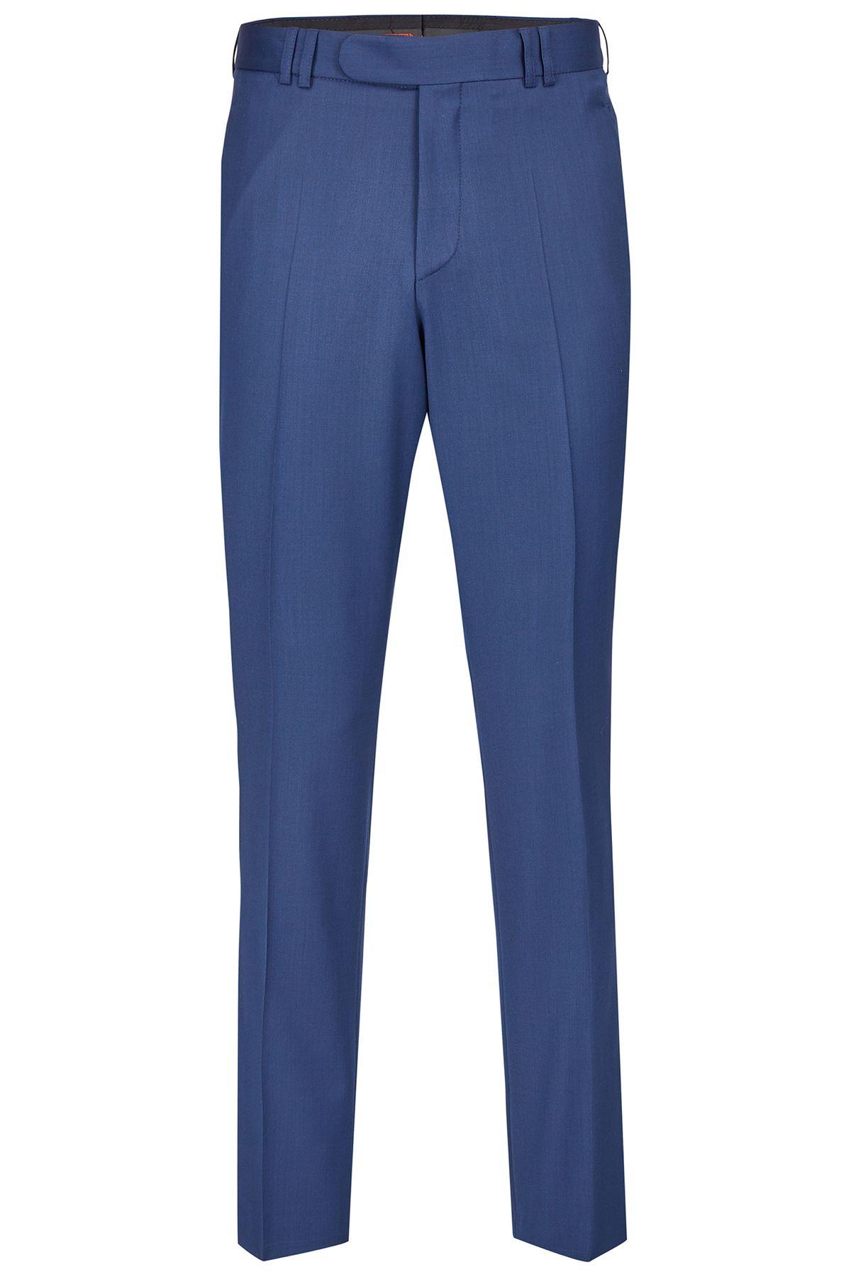 Wilvorst - Festlicher Anzug Baukasten Hose in Schwarz und Blau (561208 Modell 513) – Bild 4