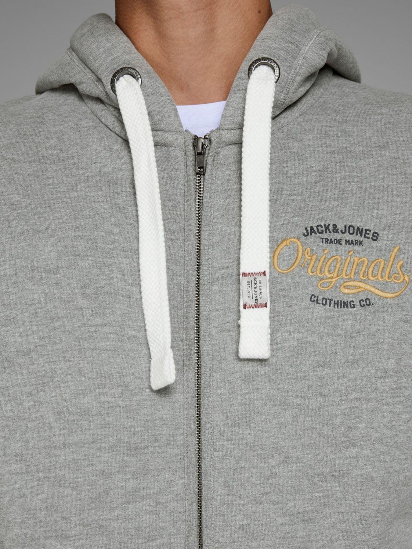 Jack & Jones - Herren Sweatshirt mit Kapuze, Plus Size, Große Größen, Jorfara Sweat Zip Hood PS (Art. 12142698) – Bild 4