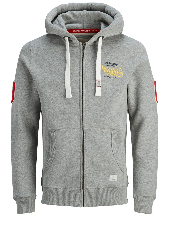 Jack & Jones - Herren Sweatshirt mit Kapuze, Plus Size, Große Größen, Jorfara Sweat Zip Hood PS (Art. 12142698)