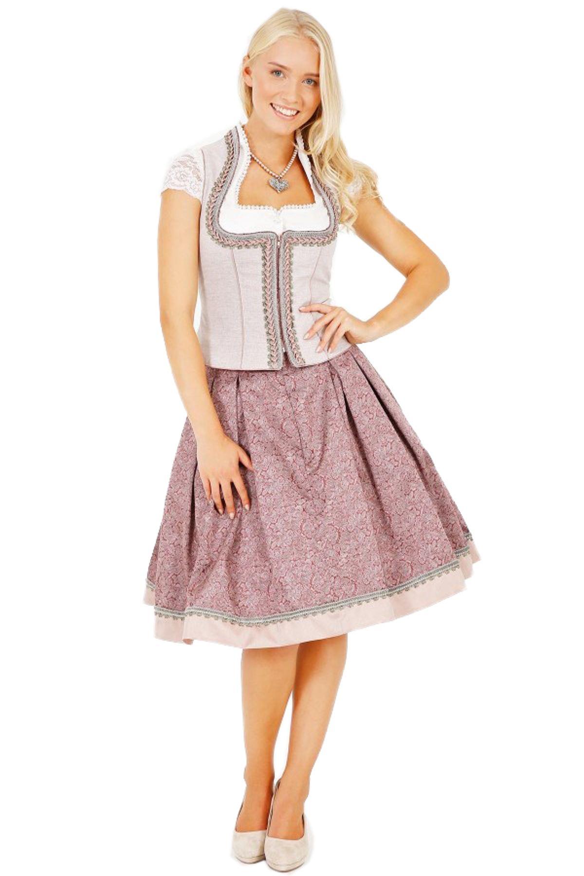 Krüger - Damen Trachtenrock in rosa,  Mary (25670-33) – Bild 1