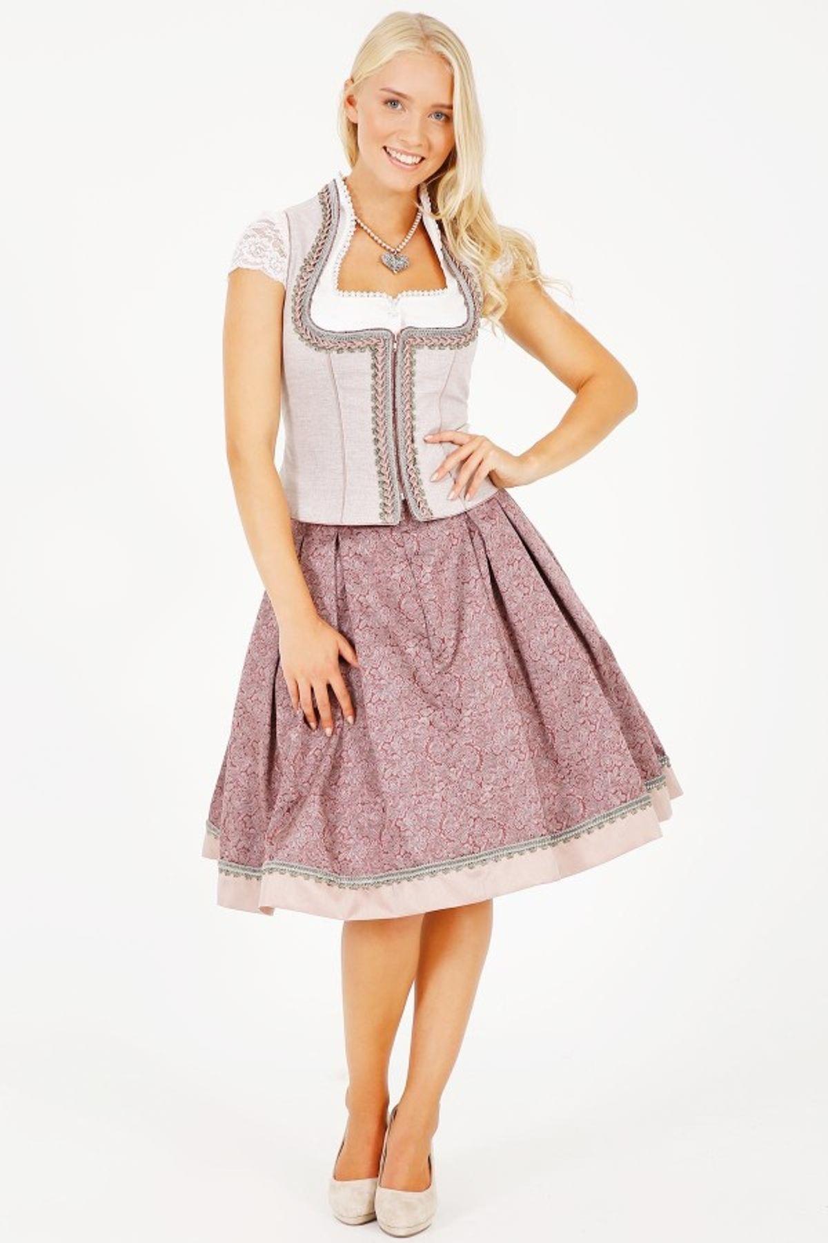Krüger - Damen Trachtenrock in rosa,  Mary (25670-33) – Bild 2