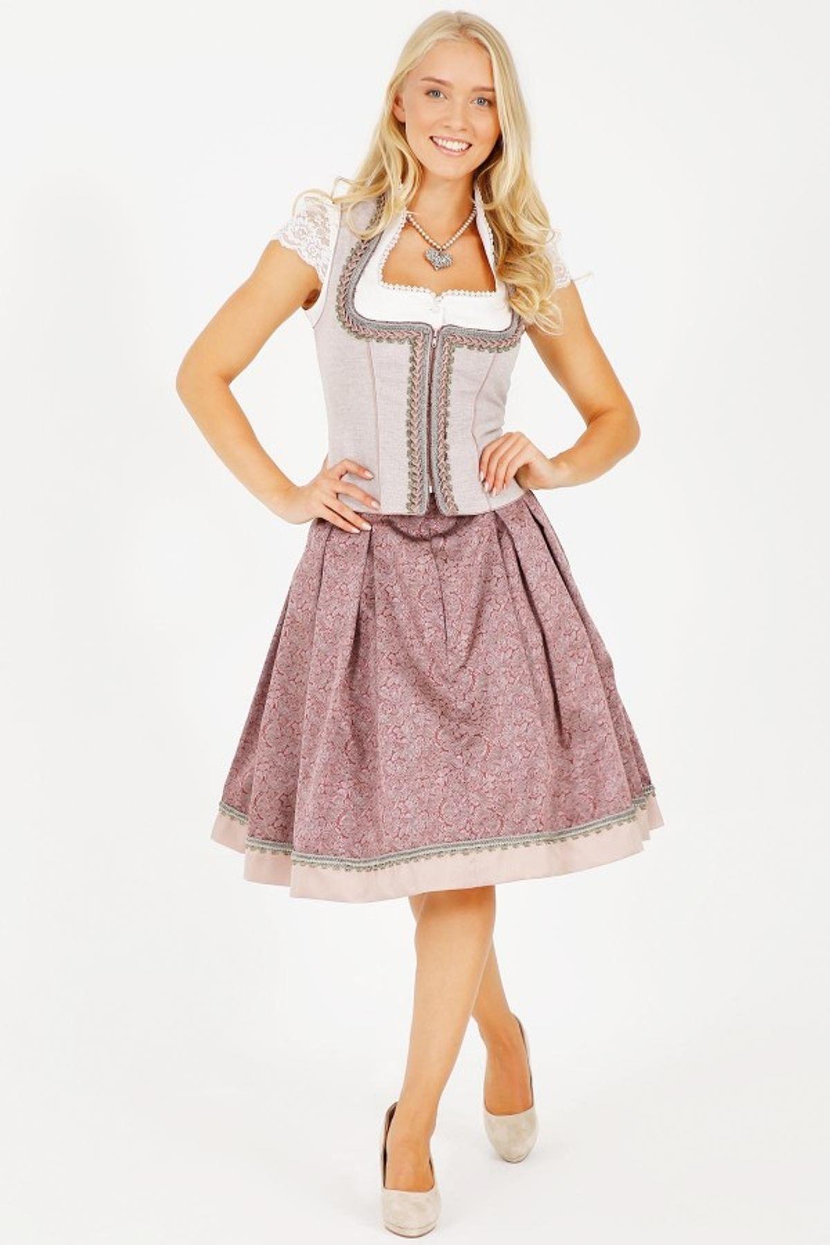 Krüger - Damen Trachtenrock in rosa,  Mary (25670-33) – Bild 3