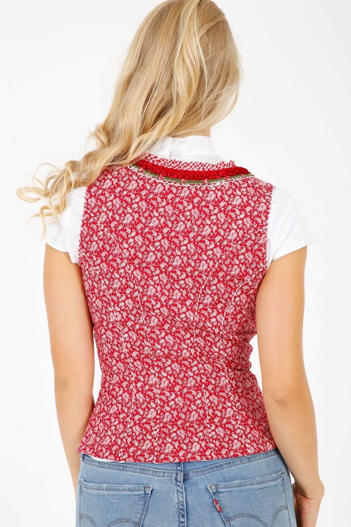 Krüger - Damen Trachtenmieder in rot, Mariella (36500) – Bild 4