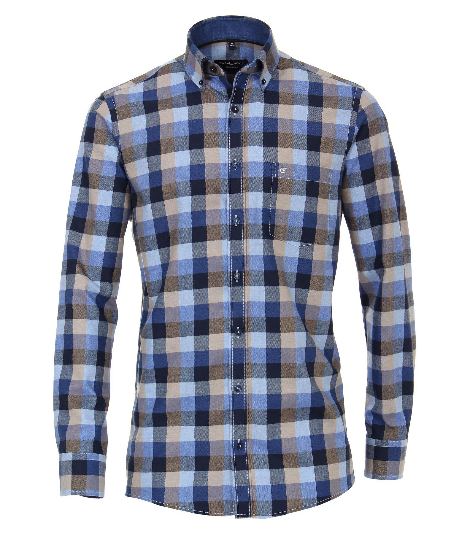 Casa Moda - Comfort Fit - Flanell Herren Hemd kariert mit Button Down-Kragen (483090600) – Bild 2