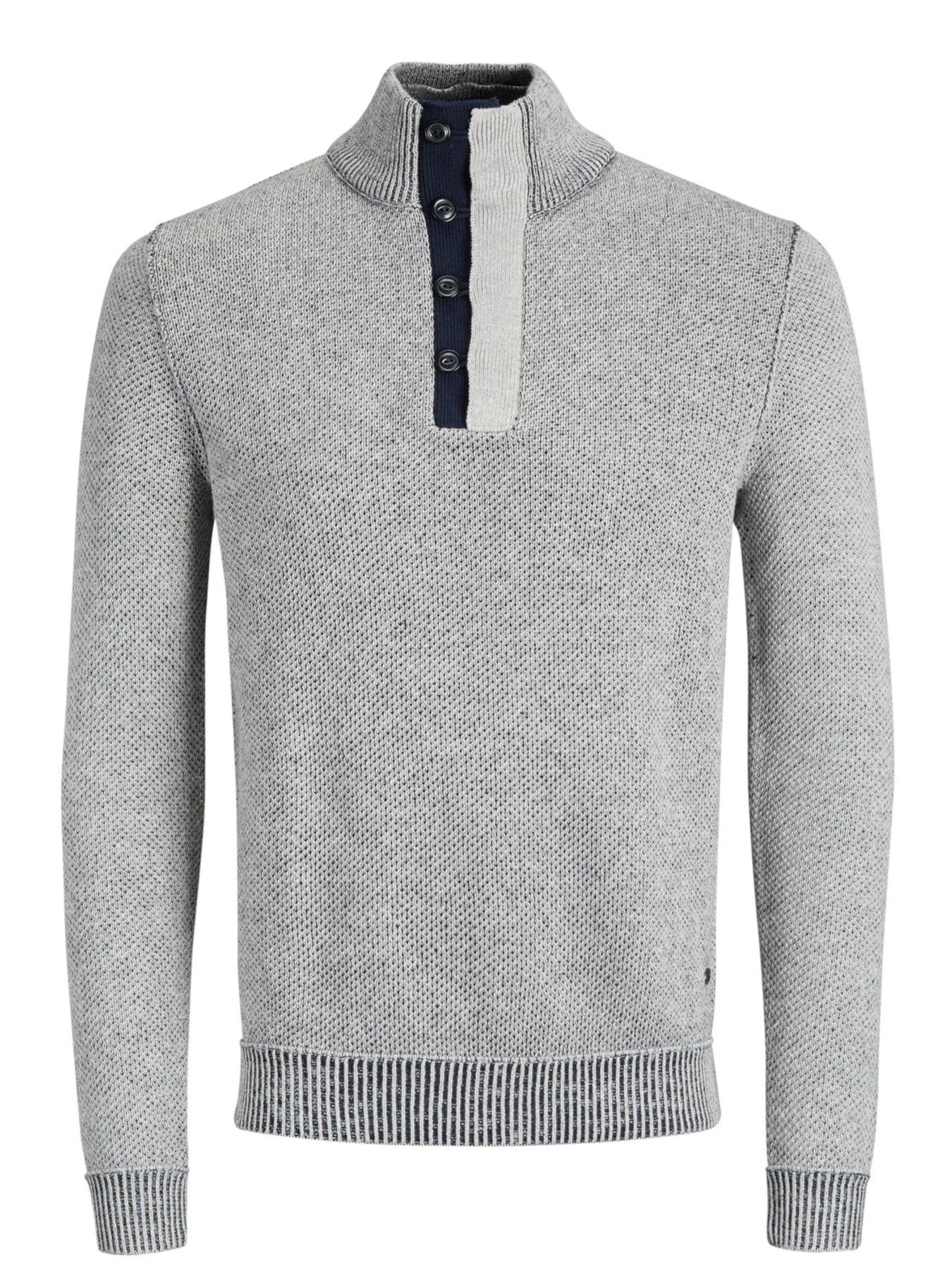 Jack & Jones - Herren Pullover aus 100% Baumwolle,  JORKAIDEN KNIT HIGH NECK (12141080) – Bild 1
