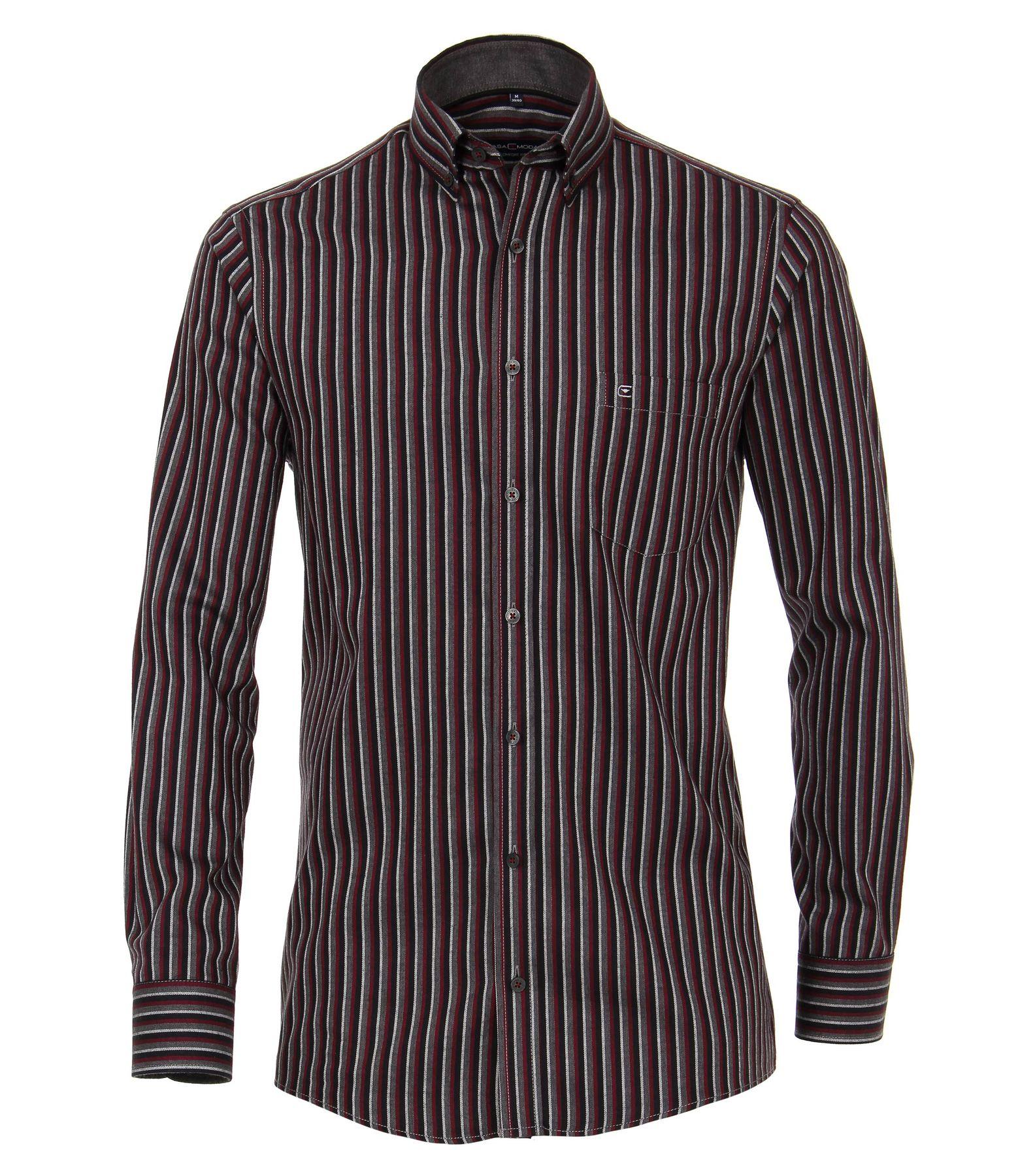 Casa Moda - Comfort Fit - Gepeachtes Herren Langarm Hemd gestreift mit Button-Down-Kragen (483090800) – Bild 2