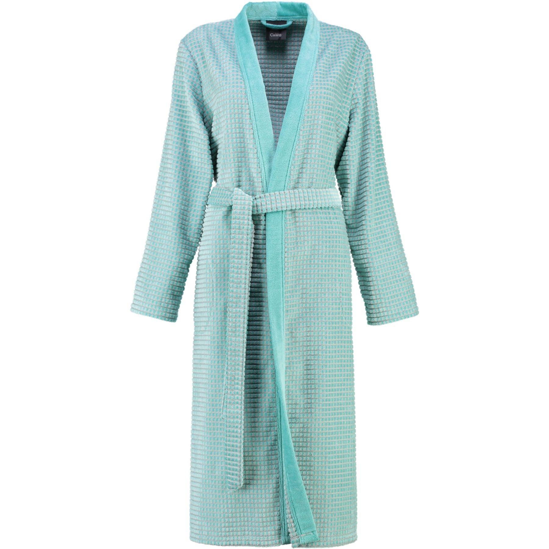 Cawö - Damen Walkvelours-Bademantel in Kimono-Form (4346) – Bild 4