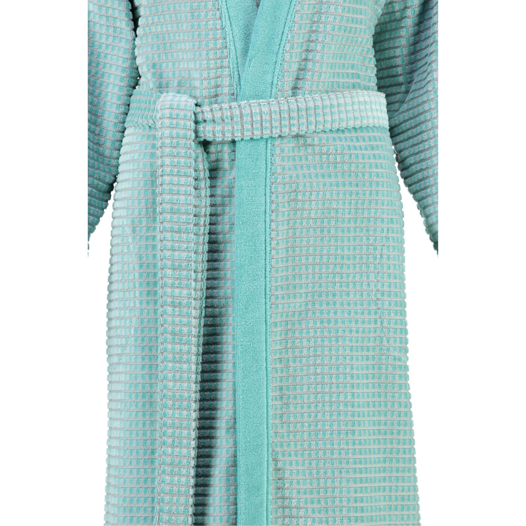 Cawö - Damen Walkvelours-Bademantel in Kimono-Form (4346) – Bild 6