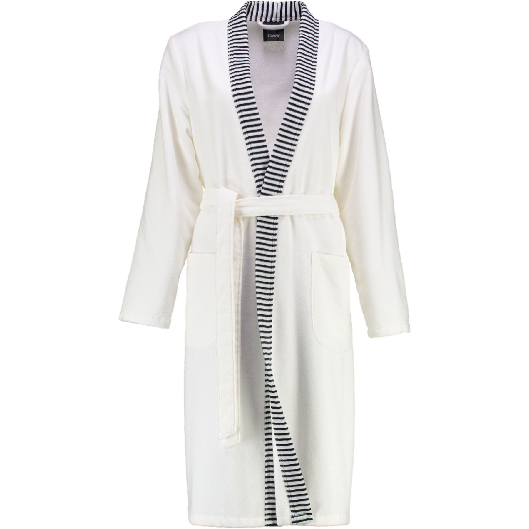 Cawö - Damen Velours-Bademantel in Kimono-Form (4338) – Bild 1