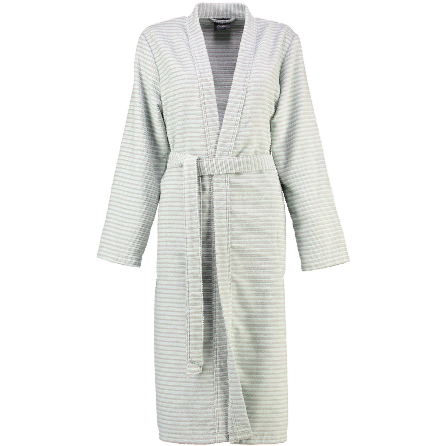 Cawö - Damen Velours-Bademantel in Kimono-Form (4327) – Bild 3