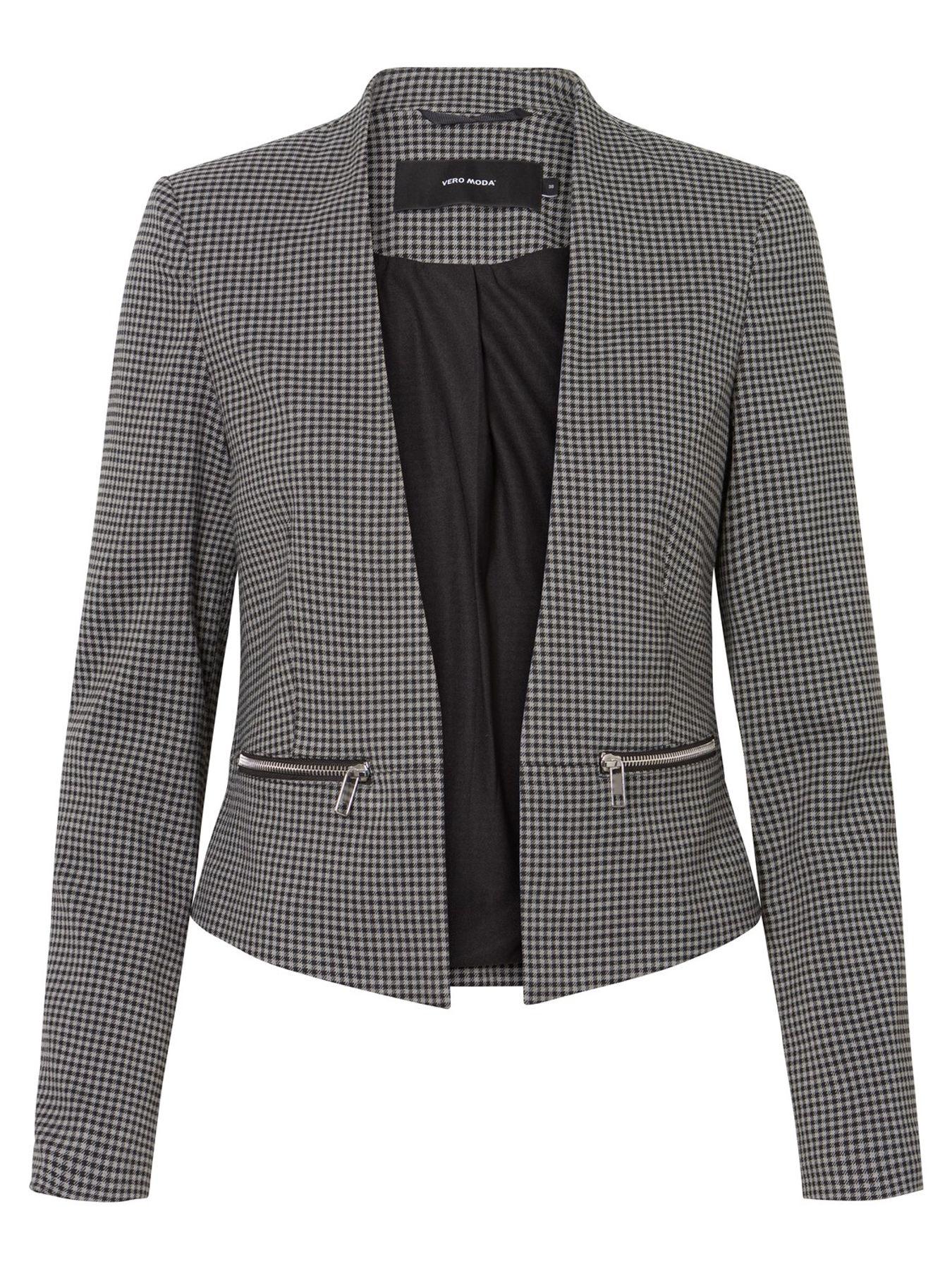 VERO MODA - Damen Jersey-Blazer in grau mit Muster oder schwarz (10206213) – Bild 2