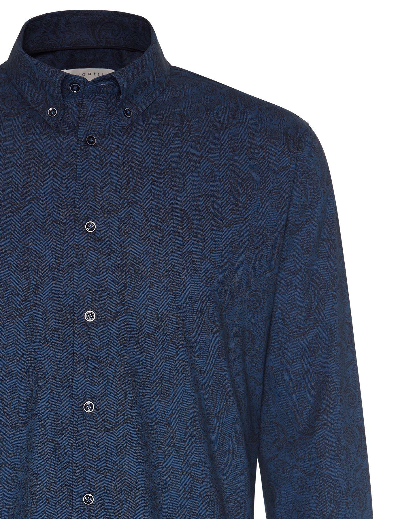 Bugatti - Herren Hemd mit Fischgräten Muster (28517-9351) – Bild 1
