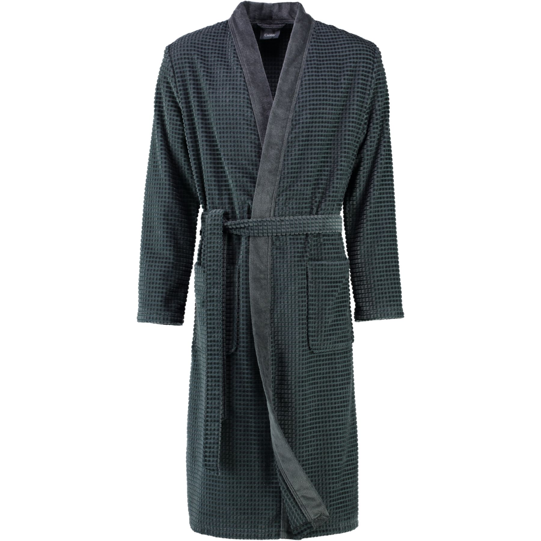 Cawö - Herren Walkvelours Bademantel in Kimono-Form (4843) – Bild 3