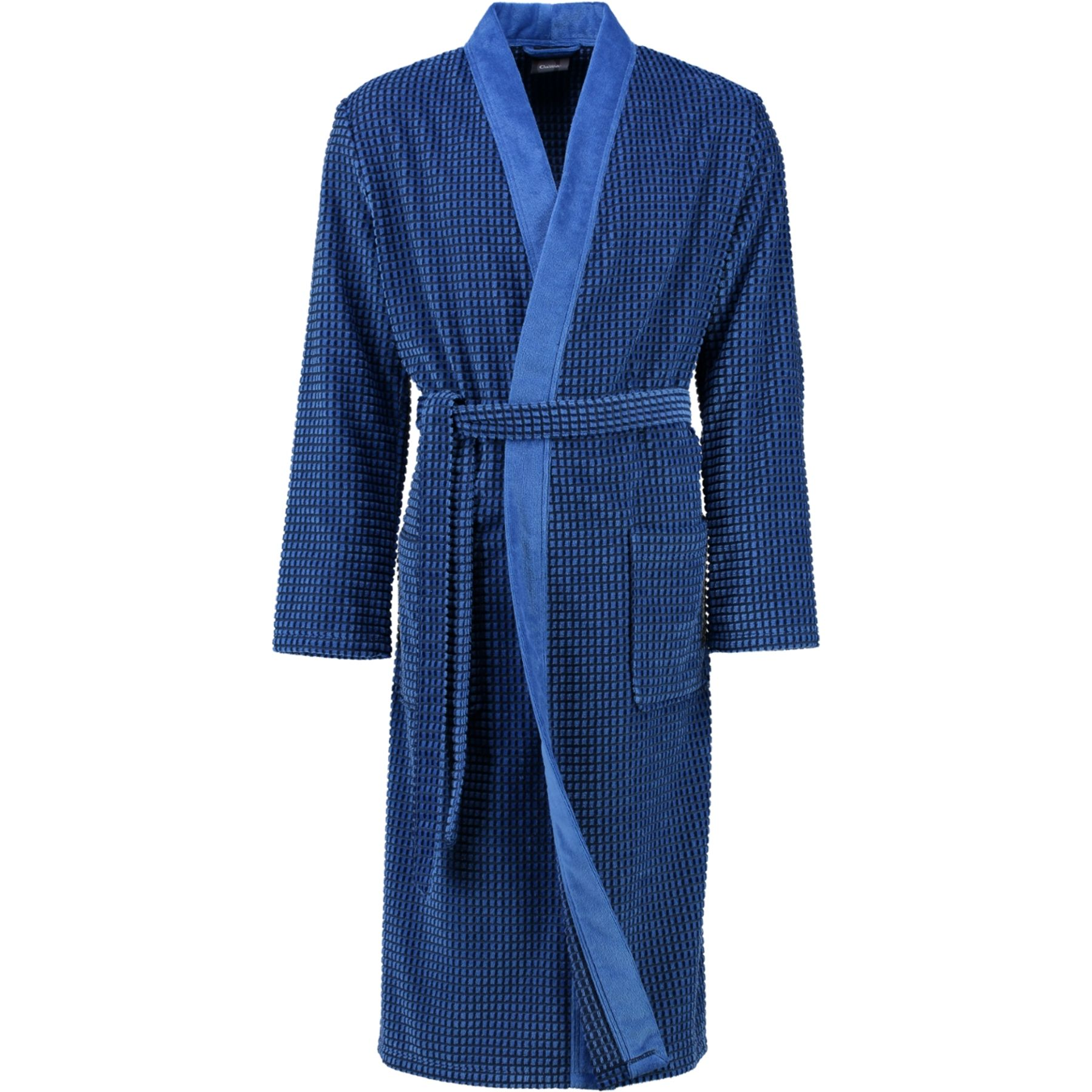 Cawö - Herren Walkvelours Bademantel in Kimono-Form (4843) – Bild 1