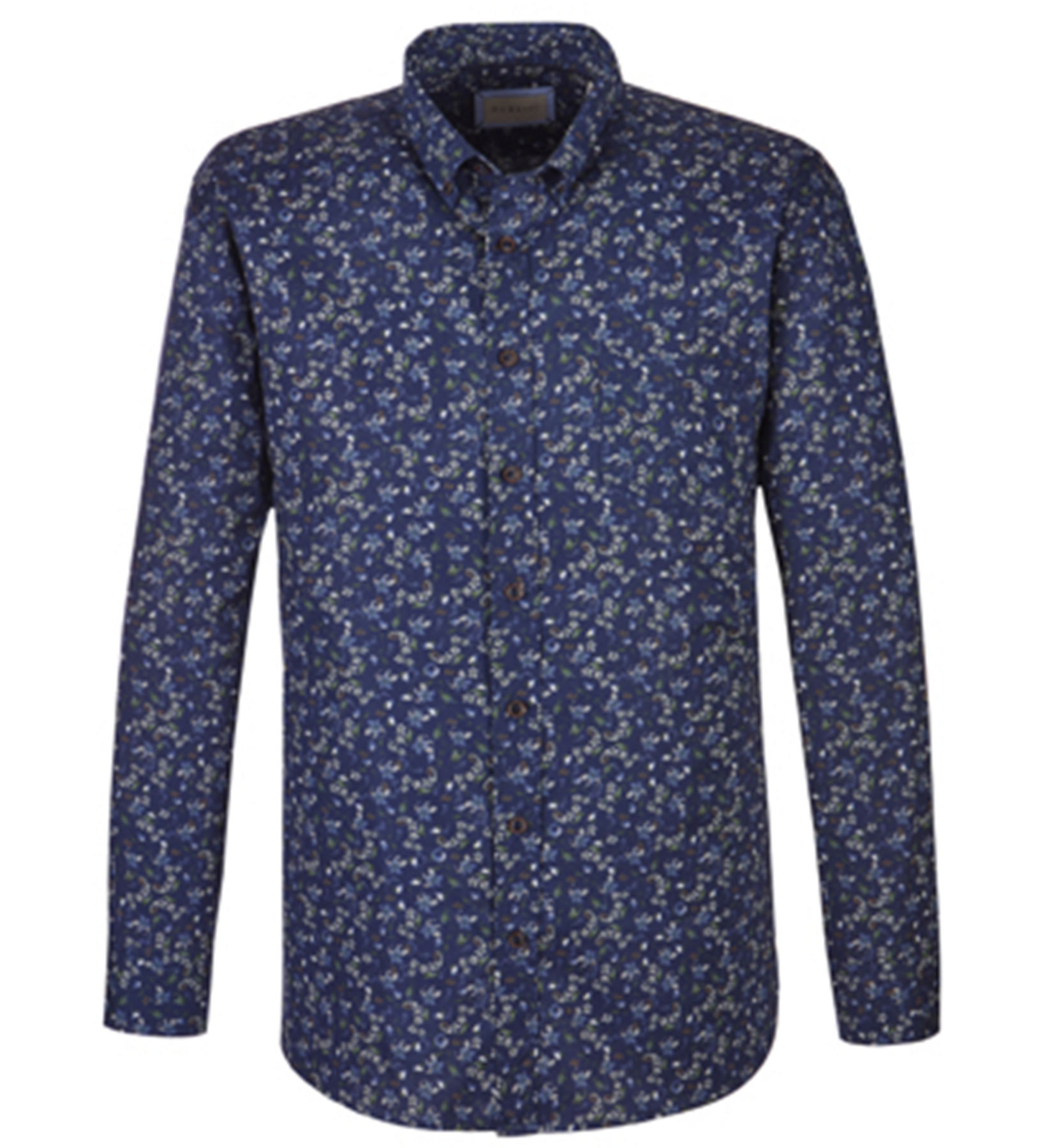 Bugatti - Herren Hemd mit floralem Muster (98803-9300)