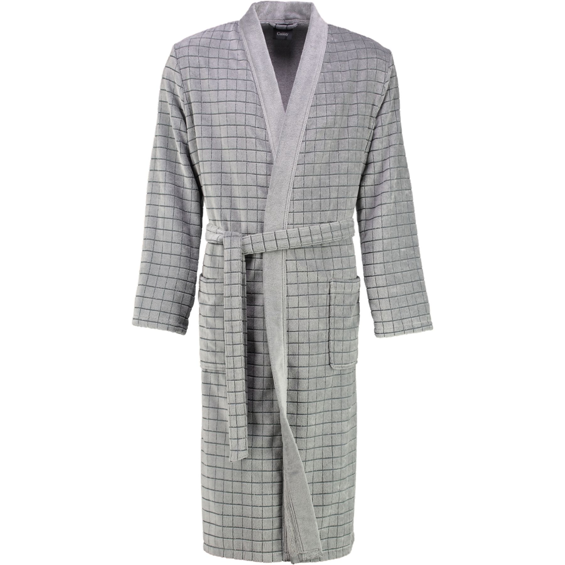 Cawö - Herren Walkvelours Bademantel in Kimono-Form (3828) – Bild 2