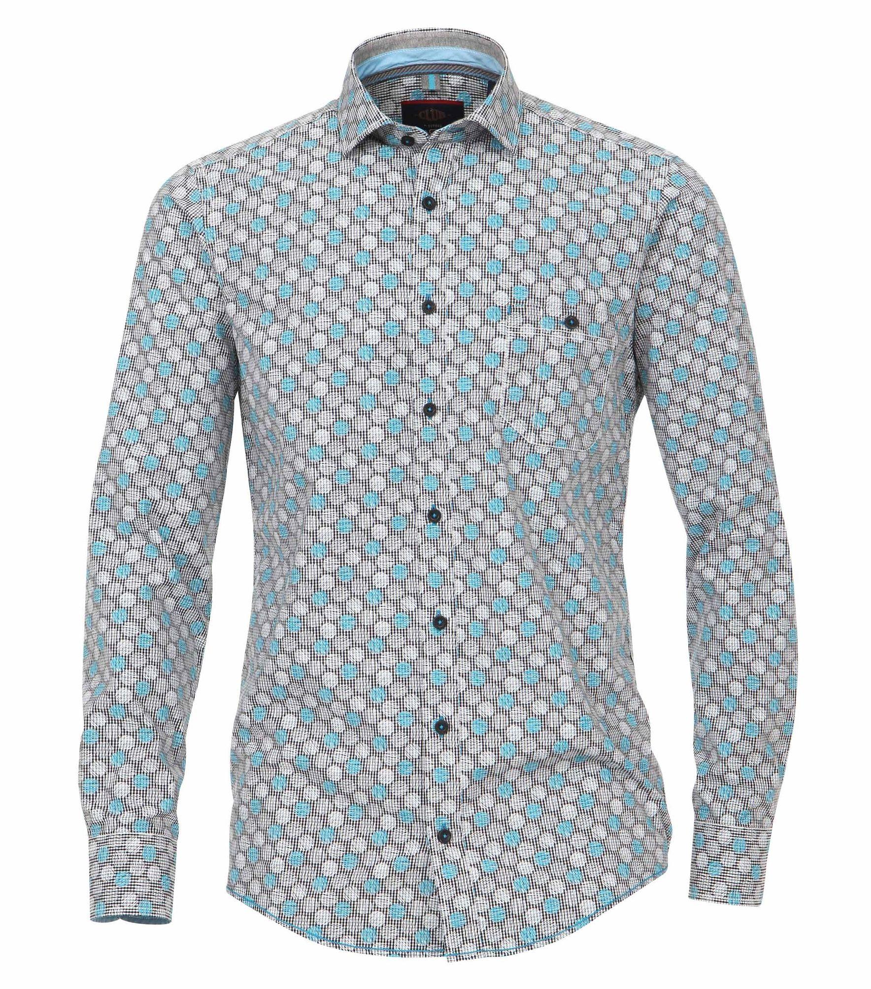 a073b5307aeb Casa Casa Casa Moda-Comfort fit-Uomo Camicia con stampa moderno antracite  (472653100) c92bea