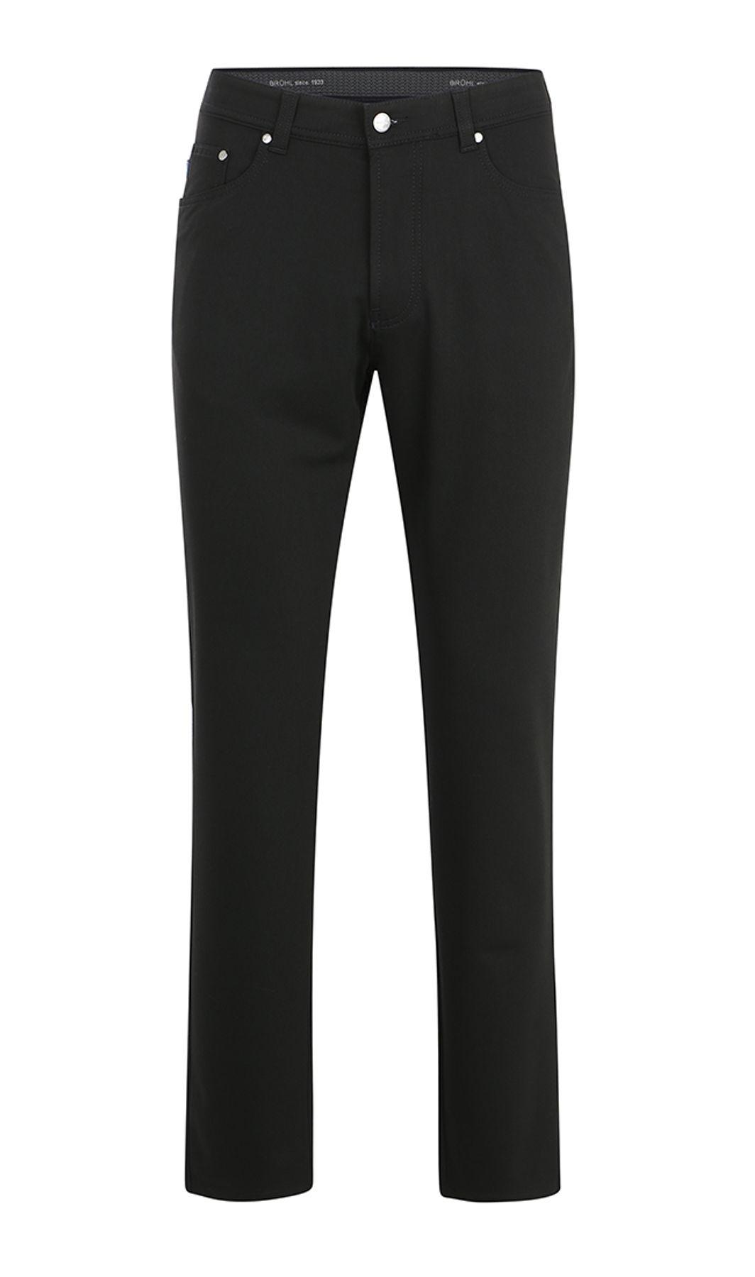 Brühl - Herren 5-Pocket Hose in Wolloptik in schwarz, Genua 1 (0289110200100) – Bild 1
